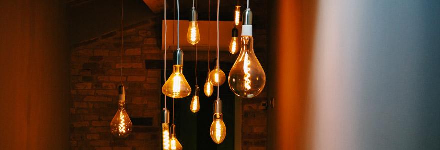 ampoules LED E14 dotées de filaments